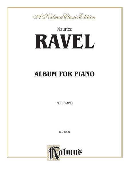 View larger image of Album for Piano - (Ravel)