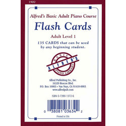 Alfred's Basic Adult Piano Course Flash Cards, Level 1