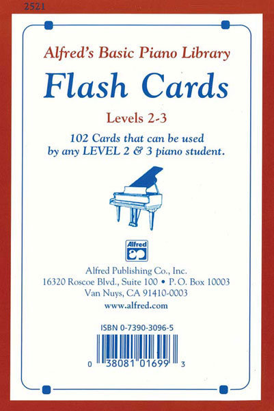View larger image of Alfred's Basic Piano Library: Flash Cards, Levels 2 & 3