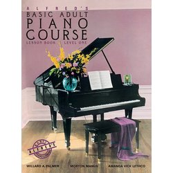 Alfred's Basic Adult Piano Course Lesson Book, Level 1 w/CD