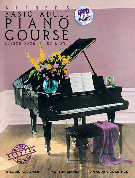 View larger image of Alfred's Basic Adult Piano Course Lesson Book, Level 1 w/DVD