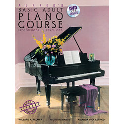 Alfred's Basic Adult Piano Course Lesson Book, Level 1 w/DVD