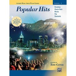 Alfred's Basic Adult Piano Course - Popular Hits, Level 1