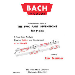 Bach in Color Two-Part Inventions Piano/Early Advanced