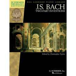 Bach Two-Part Inventions, Schirmer Performance Ed