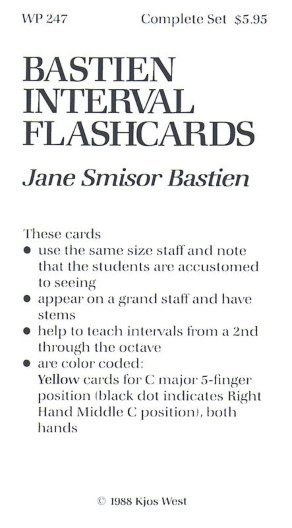 View larger image of Bastien Interval Flash Cards