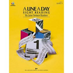 A Line a Day Sight Reading, Level 4 (Bastien)