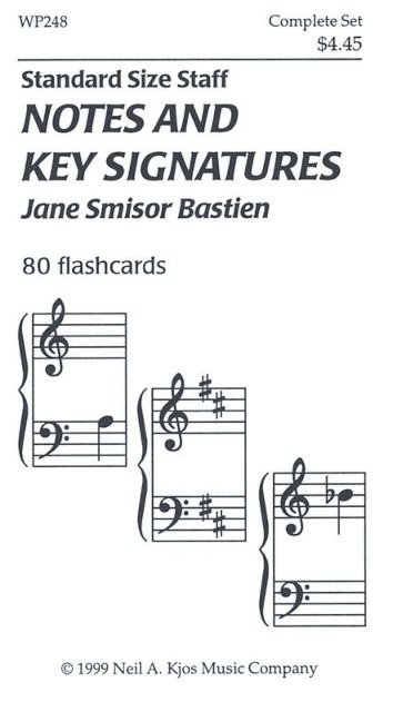 View larger image of Bastien Notes and Key Signatures - 80 Flashcards