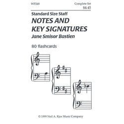Bastien Notes and Key Signatures - 80 Flashcards