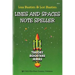 Bastien Theory Boosters - Lines & Spaces Notespeller