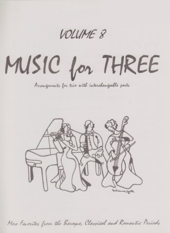 View larger image of Music for Three, Volume 8, Part 1 - Flute/Oboe/Violin