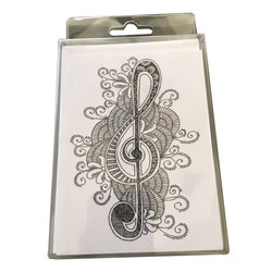 Music Gifts Colouring Notecards with Pencil