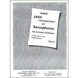 Basic Jazz Conception for Saxophone - Vol.2 w/CD