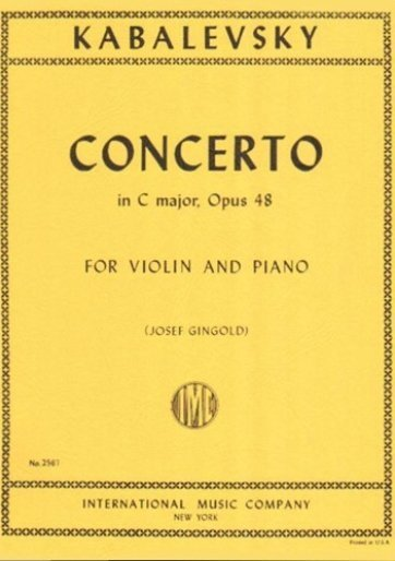 View larger image of Concerto In C Maj Op.48 (Kabalevsky) - Violin/Piano