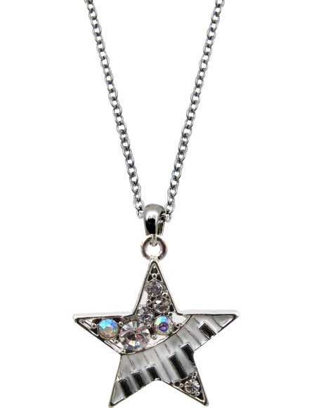View larger image of Music Keyboard Star Necklace with Crystals