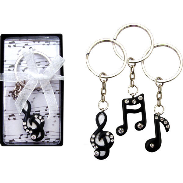 View larger image of Music Keychain with Rhinestones
