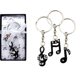 Music Keychain with Rhinestones