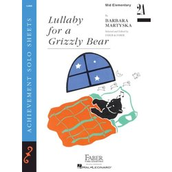 Lullaby for a Grizzly Bear (Mid-Elementary/Level 2A) - Piano Solo