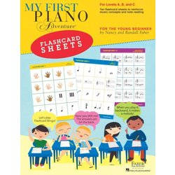 My First Piano Adventure Flashcard Sheets (Level A,B,C)