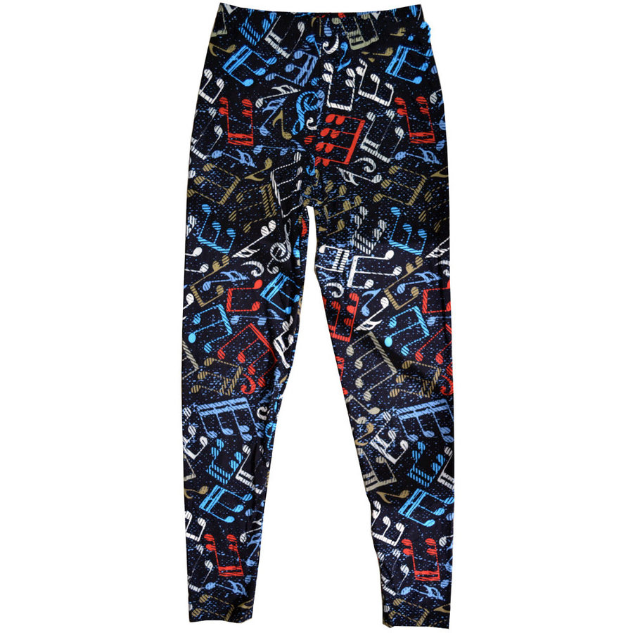 View larger image of Music Note Leggings - Black/Multi, Plus