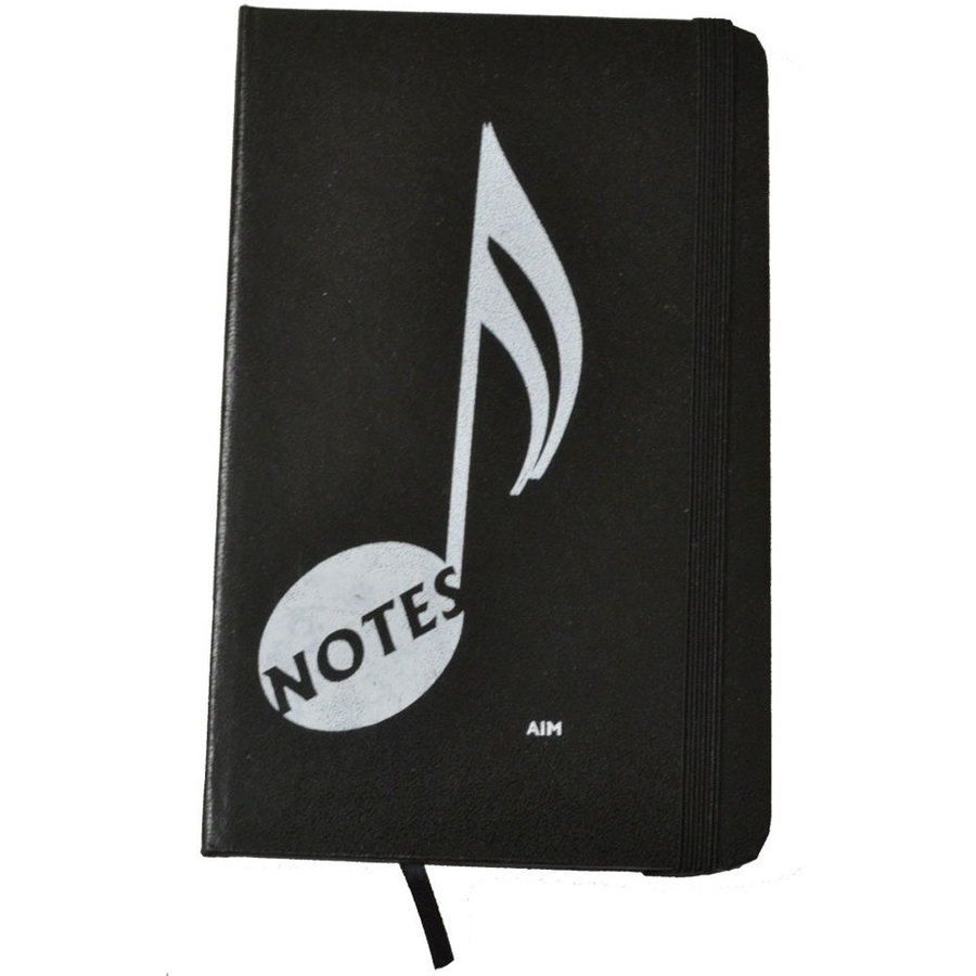 View larger image of Music Note Notebook - Black