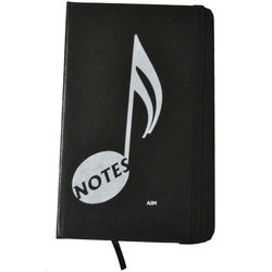 Music Note Notebook - Black