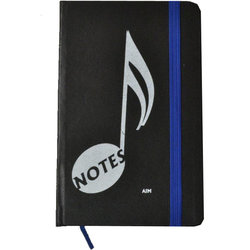 Music Note Notebook - Blue