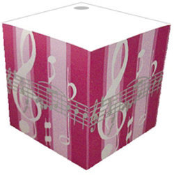 View larger image of Music Note Striped Telephone Cube