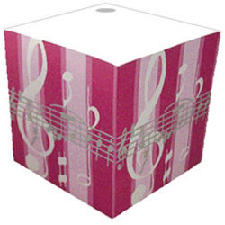 Music Note Striped Telephone Cube