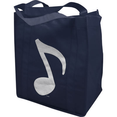 View larger image of Music Note Tote - Navy, 11-1/2x13x6