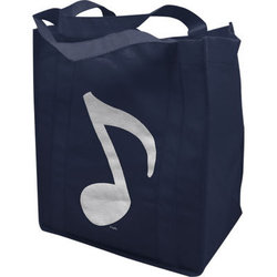 Music Note Tote - Navy, 11-1/2x13x6