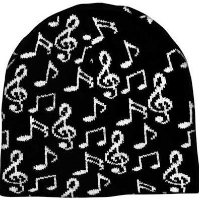 View larger image of Music Notes Beanie - Black