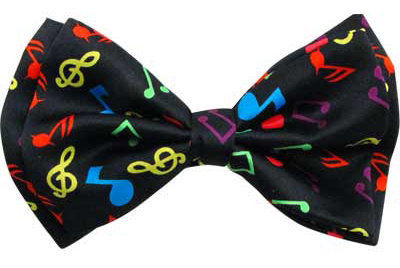 View larger image of Music Notes Bow Tie - Black/Multi