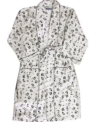 View larger image of Music Notes Flannel Robe