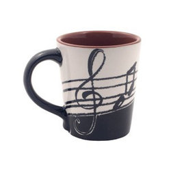 Music Notes Latte Mug - 14oz.
