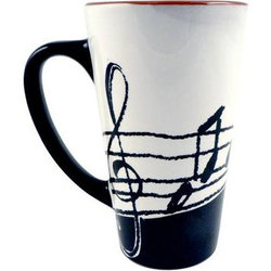 Music Notes Latte Mug