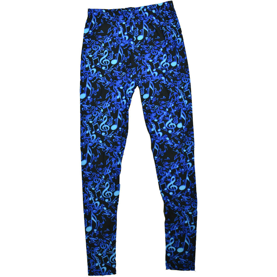 View larger image of Music Notes Leggings - One Size, Blue