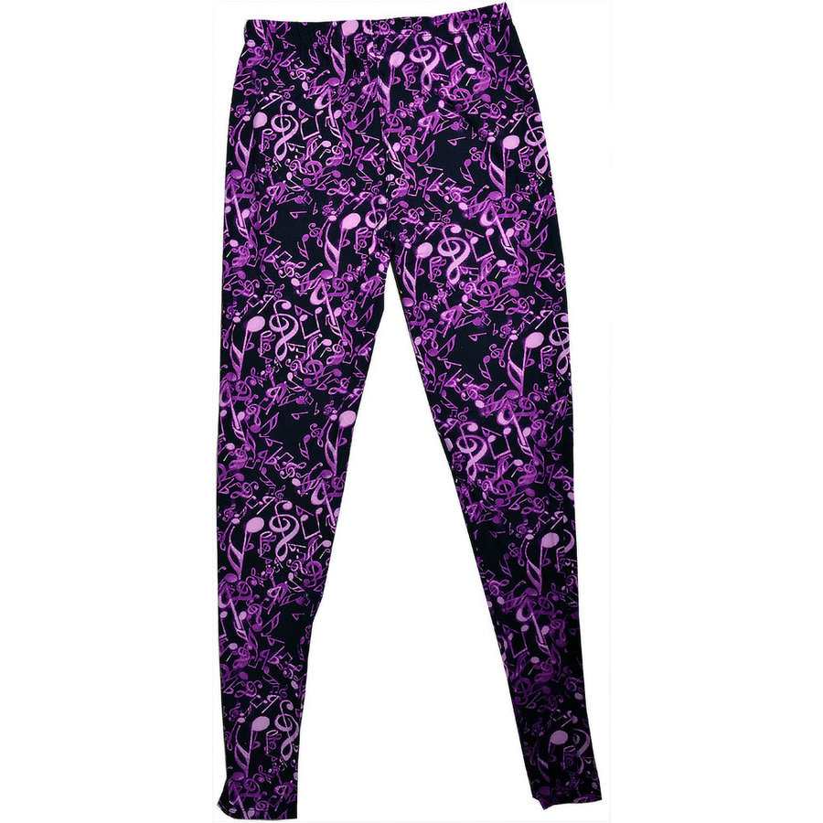 View larger image of Music Notes Leggings - One Size, Purple
