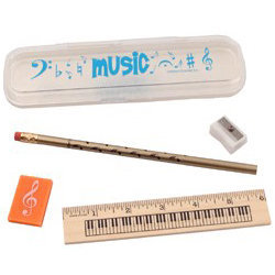 View larger image of Music Notes Pencil Case - Blue