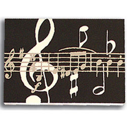 Music Notes Post It Notes - Black