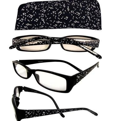View larger image of Music Notes Reading Glasses - 1-1/2 Strength