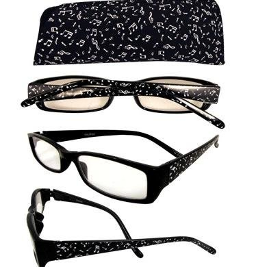 View larger image of Music Notes Reading Glasses - 1-1/4 Strength