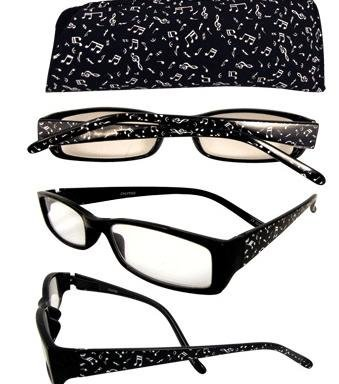 View larger image of Music Notes Reading Glasses - 1-3/4 Strength