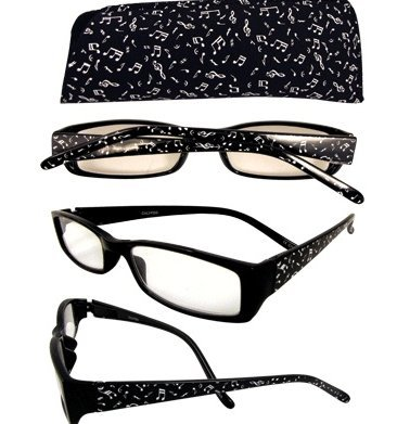 View larger image of Music Notes Reading Glasses - 2-1/4 Strength