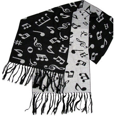 View larger image of Music Notes Scarf - Cashmere-Like