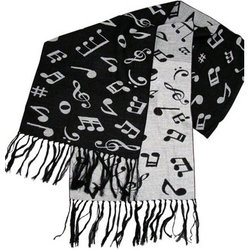 Music Notes Scarf - Cashmere-Like