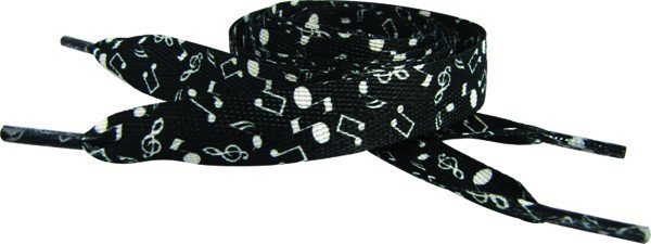 View larger image of Music Notes Shoe Laces - Black/White
