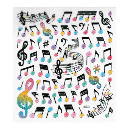 View larger image of Music Notes & Staff Stickers