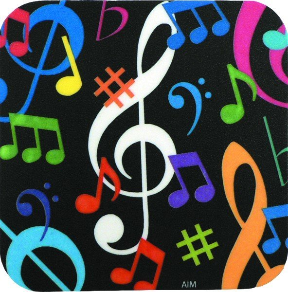View larger image of Music Notes Vinyl Coaster - Square