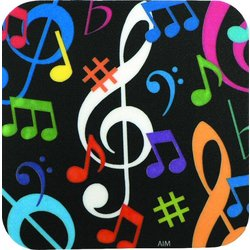 Music Notes Vinyl Coaster - Square